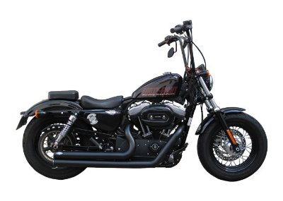 "Escapamento moto Torbal Harley Davidson Sportster Forty Eight 2"" 1/2 Long Reto"
