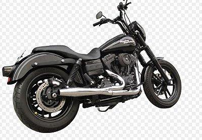 Escapamento 2 x 1 Torbal Harley Davidson Dyna Super Glide 12-14 Thunder Bolt