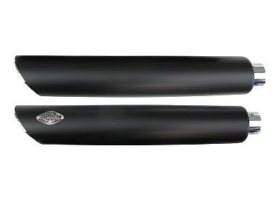 """Ponteira para Escapamento Torbal Harley Davidson Dyna Super Glide 2008 Corte Baixo com Capas de 3"""" Poleg."""