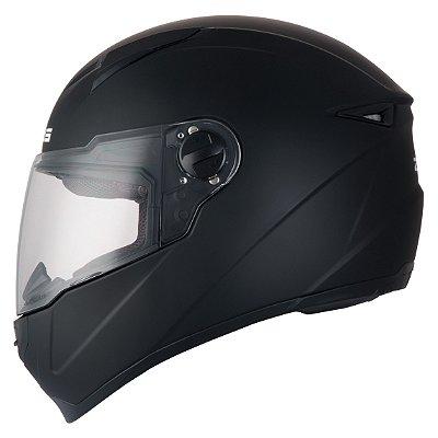 Capacete Moto Zeus 811 Evo Metallic Black Preto