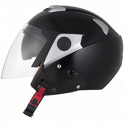 Capacete Moto Zeus 202FD Premium Solid black Aberto