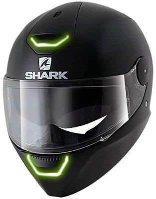 Capacete Moto Shark Skwal Led Blank Matt Kma Preto Fosco com Pinlock