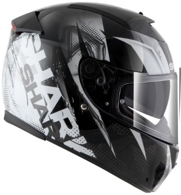 Capacete para Moto Shark Speed-R 2 Tizzy Kww Preto Branco Pulse Division