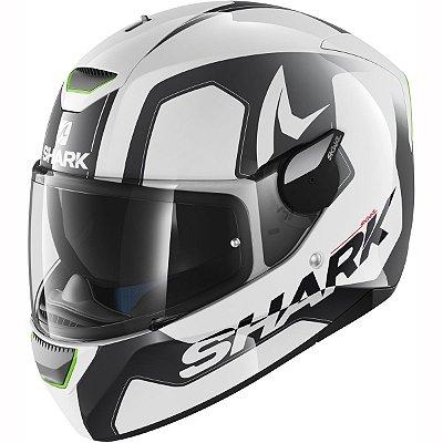 Capacete Moto Shark Skwal Led Trion Wka Branco e preto