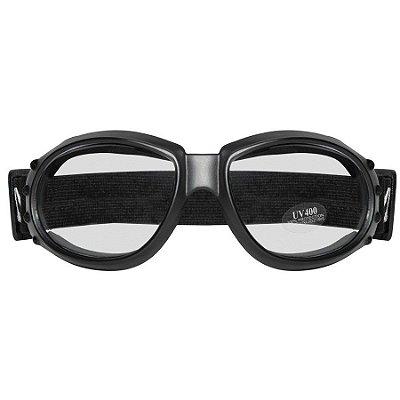 Óculos para Moto Goggles Sky Retro Matt Black Café Racer Old Scholl Vintage