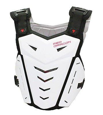 Colete para Motocross Red Dragon Attack com Protetor de Coluna Branco