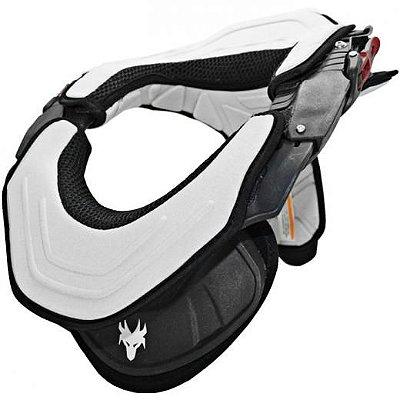 Protetor de Pescoço e Coluna Cervical Motos e Motocross Red Dragon Brace Preto e Cinza
