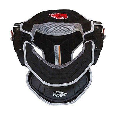 Protetor de Pescoço e Coluna Cervical Motos e Motocross Red Dragon Brace Preto