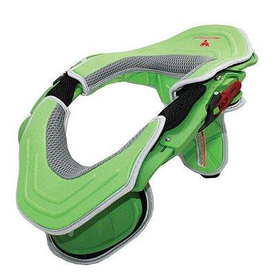 Protetor de Pescoço e Coluna Cervical Motos e Motocross Red Dragon Brace Verde Neon