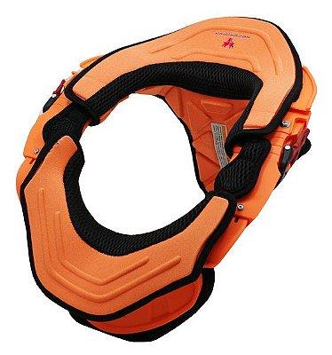 Protetor de Pescoço e Coluna Cervical Motos e Motocross Red Dragon Brace Laranja Neon