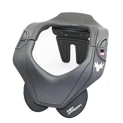 Protetor de Pescoço e Coluna Cervical Motos e Motocross Red Dragon Evolution Preto