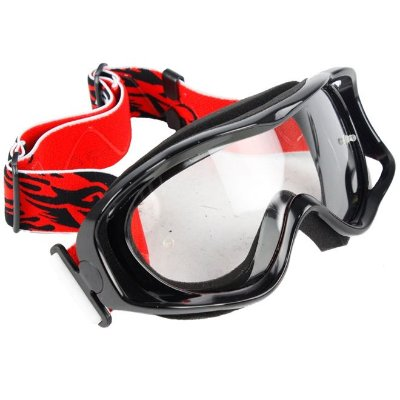 Óculos Capacete MotoCross Red Dragon YH-08 P Preto Lente Crstal