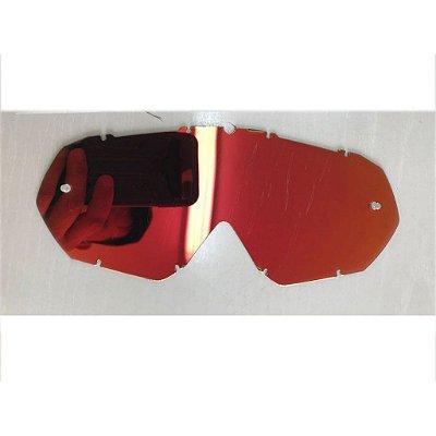 Lente de Reposição Simples Espelhada Vermelha Oculos Red Dragon modelo YH-16