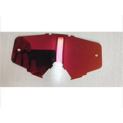 Lente de Reposição simples Espelhada Vermelha Oculos Red Dragon modelo EFX YH-105
