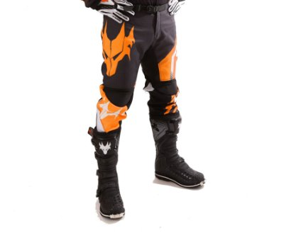 Calça MotoCross Red Dragon Attack Laranja e Preto
