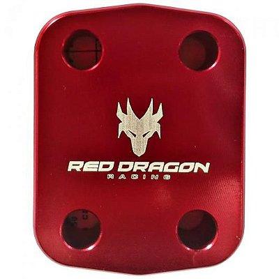 Abraçadeira do eixo dianteiro em aluminio Red Dragon Honda Crf 230 2007 Acima Vermelho