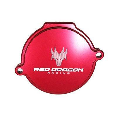 Tampa Lateral do Cilindro aluminio Red Dragon Honda Crf 230 2007 Acima Vermelho