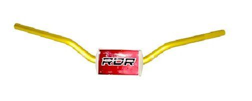 Guidão Motos Dourado Big Bar 28mm Alto Red Dragon com Adaptador e Espuma