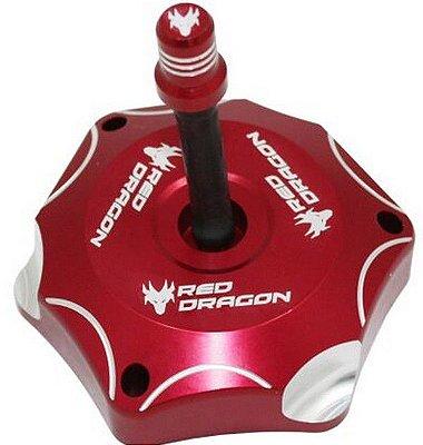 Tampa tanque de combustível Aluminio com Respiro Honda Cr Crf Crfx 2004 Vermelho Red Dragon