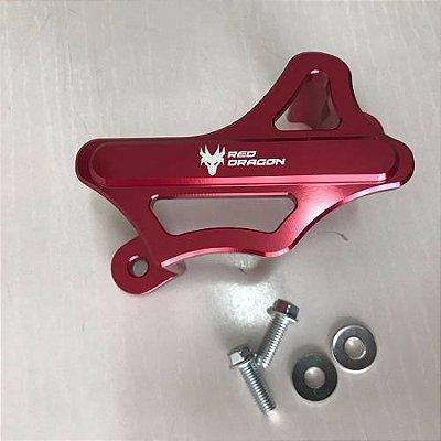 Protetor Caliper Freio Traseiro Honda Cr Crf Crfx 2004 Vermelho Red Dragon