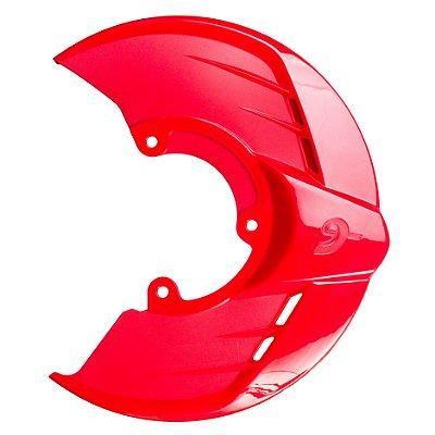 Protetor Disco de Freio Dianteiro Motos Honda CRF 250 450 R X Vermelho Suporte RD