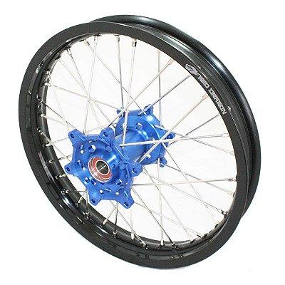 Roda Traseira Completa 18'' Yamaha Wrf 250 450 2004> Preto e Azul Red Dragon