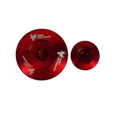 Kit Tampa do Gerador Honda Quadriciclo Trx 450r em Alumínio Vermelho Red Dragon