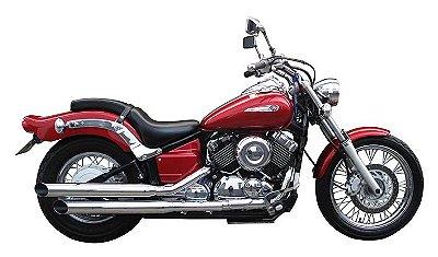 "Escapamento Torbal 66cm Yamaha Drag Star 650 Xvs 2006 a 2010 3"" Poleg. Corte Lateral"