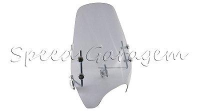 Bolha Parabrisa Yamaha Xj6 Fazer 250 Dt 180 200 Factor Ybr 125 Xtz 125 250 Rdz Rd 125 135 350  Air 9 Fume Claro