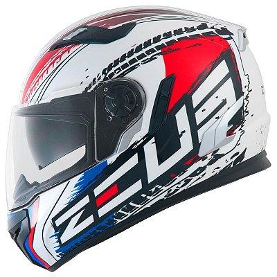 Capacete Moto Zeus 813 An13 Flag France White Red Edição Especial