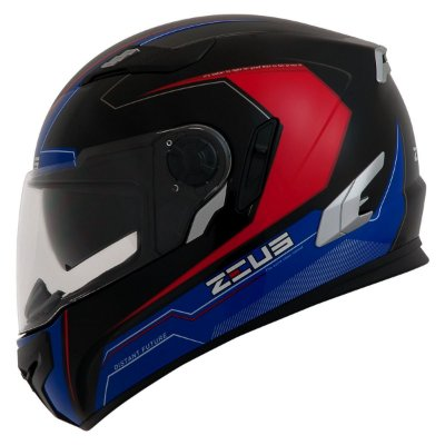 Capacete Moto Zeus 813 Win An8 Black Blue Edição Especial