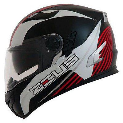 Capacete Moto Zeus 813 Field Solid An9 Black Red Edição Especial