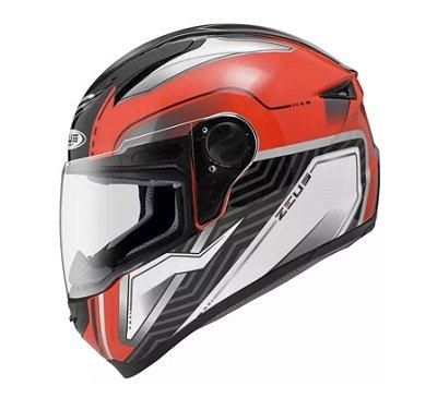 Capacete Moto Zeus 811 Evo Thunder Al16 Red Silver