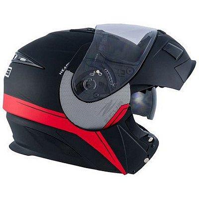 Capacete Moto Zeus 3020 Urban Ab11 Escamoteável Adventure Matt Black e861a5034d6
