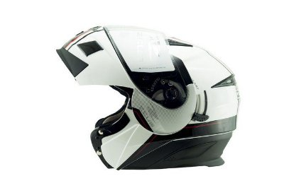 Capacete Moto Zeus 3020 Urban Ab11 Escamoteável Adventure Solid White Black