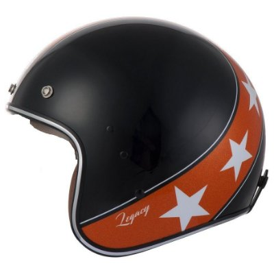 Capacete Moto Zeus K57 Legacy 380H Solid Black Orange