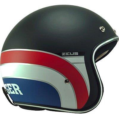 Capacete Moto Zeus 380H K63 Matt Black Red Aberto