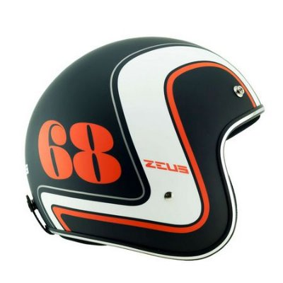 Capacete Moto Zeus 380H K63 Matt Black Orange Aberto 68