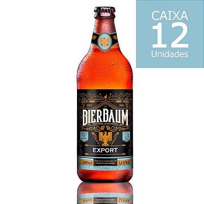 Caixa com 12 Cervejas Bierbaum Export | Garrafa 600ml