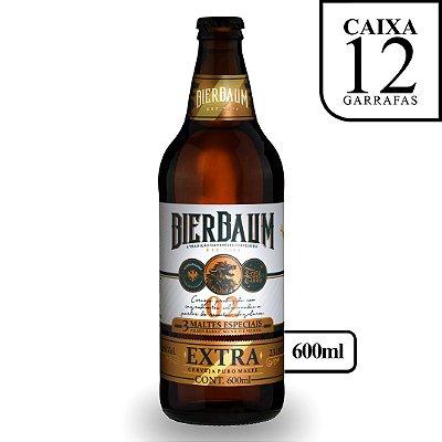 Caixa com 12 Cervejas Pilsen Extra Gold Bierbaum   Garrafa 600ml