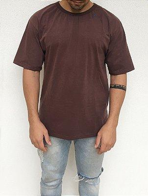 Camiseta Oversized Marrom