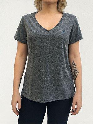 T-shirt Feminino Cinza Mescla