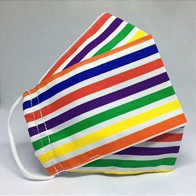 Máscara de Tecido 3d Pride - Modelo Tarja