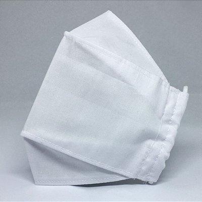 Máscara de Tecido 3d Branca - Modelo Tarja