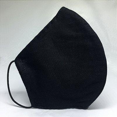 Máscara de Tecido Bico de Pato Preto com TRIPLA Camada de Tecido