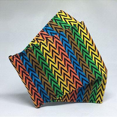Máscara de Tecido 3D Estampa Africana - Tarja
