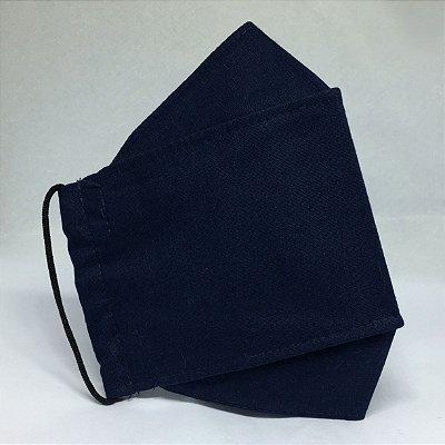 Máscara de Proteção 3D Azul Marinho - Tripla Camada