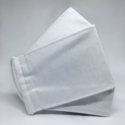 KIT de 10 Máscaras de Tecido 3D Branco - Tripla Camada