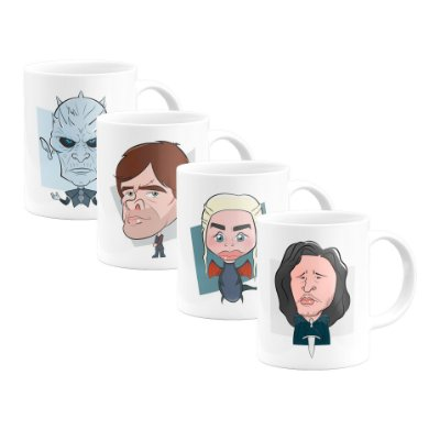 Kit 4 Canecas Personalizadas - Game of Thrones