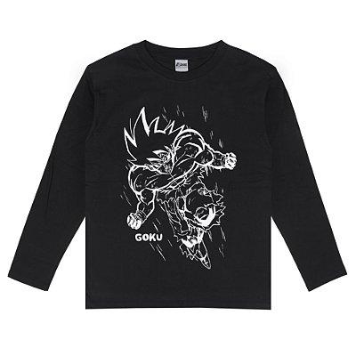 Camiseta Manga Longa Goku